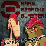 Tikus and R-01 - our magnificent Customer Service Team at Bars Bespoke Blasters